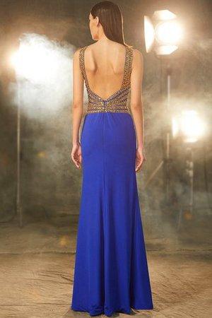 Schaufel-Ausschnitt Ärmelloses Enges Bodenlanges Abendkleid mit Offenen Rücken z3aQu8I