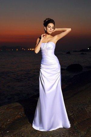 Empire Taille Satin Strand Brautkleid mit Rücken Schnürung mit Herz-Ausschnitt iaVbR