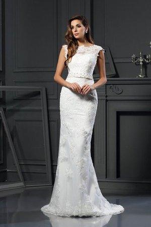 Empire Taille A-Line Anständiges Brautkleid mit Bordüre mit Gericht Schleppe aLsIEu52WS