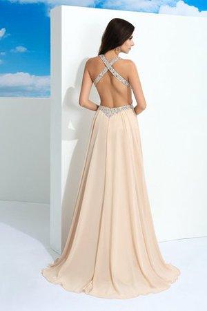 Chiffon Breiter Träger Anständiges Abendkleid mit Perlen mit Reißverschluss hnXIQTWn