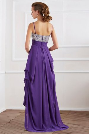 Reißverschluss Prinzessin Perlenbesetztes A-Line Abendkleid aus Chiffon unV0s7