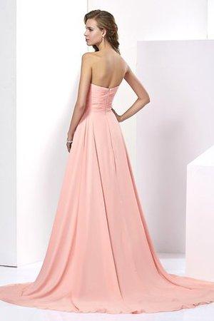 Ärmelloses A-Linie Herz-Ausschnitt Anständiges Abendkleid mit Perlen 60bm6zy