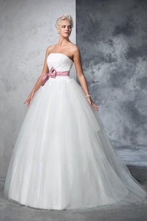 Duchesse-Linie Trägerlos Empire Taille Sittsames Brautkleid mit Rücken Schnürung nQQwg31C