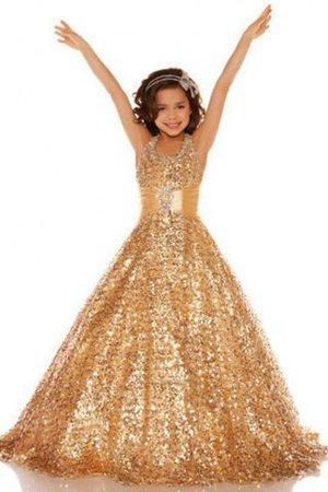 Ärmellos Neckholder Prinzessin Paillette Anständiges Blumenmädchenkleid 26TyZ6xRdQ