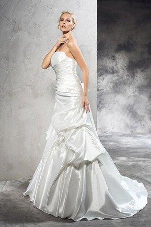 Ärmelloses Etui Normale Taille Brautkleid mit Rücken Schnürung aus Satin Y3h7N