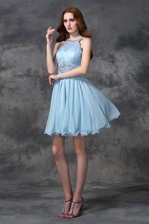 Prinzessin Chiffon A-Linie Mini Cocktailkleid mit Natürlicher Taille MtOTUYs