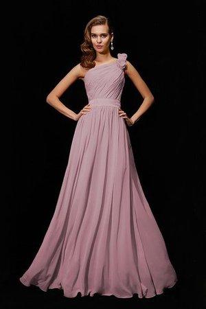 Empire Taille Chiffon Prinzessin Bodenlanges Brautjungfernkleid mit Blume SSbE0NT