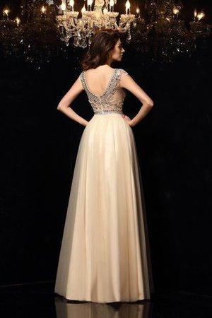 Prinzessin Ärmelloses Schaufel-Ausschnitt Normale Taille Abendkleid mit Perlen 750JW3HsR