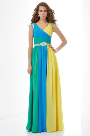 Prinzessin Normale Taille A Linie Bodenlanges Ballkleid aus Chiffon wAINppY