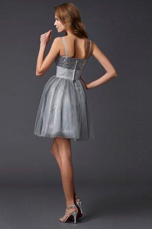Prinzessin Spaghetti Träger Mini Abiballkleid ohne Ärmeln aus Organza s7dNr6e