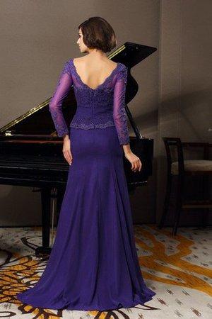 A-Line Prinzessin Empire Taille Anständiges Brautmutterkleid mit 3/4 Länge Ärmeln MBw5Wvf