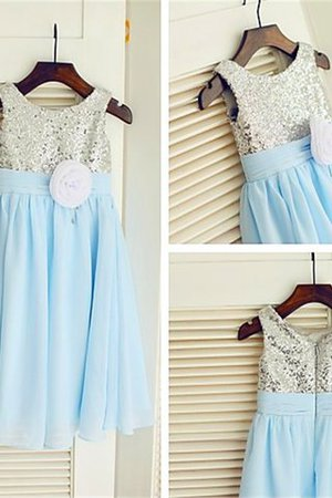 Ärmellos Chiffon Paillette Blumenmädchenkleid mit Empire Taille mit Pailletten 9T3vpXej