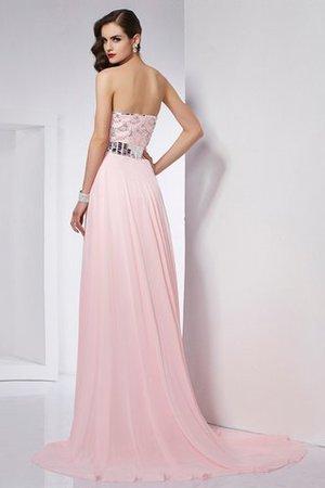 Prinzessin A-Linie Ärmelloses Abendkleid mit Perlen aus Chiffon mOtv0e89Rx