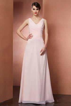 A Linie V-Ausschnitt Sittsames Bodenlanges Abendkleid aus Chiffon Ggut6FIh7u