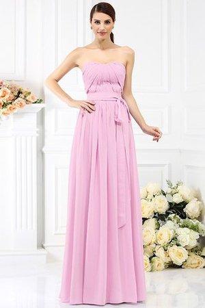 Prinzessin Chiffon A-Line Trägerloser Ausschnitt Brautjungfernkleid mit Gürtel RecPpI