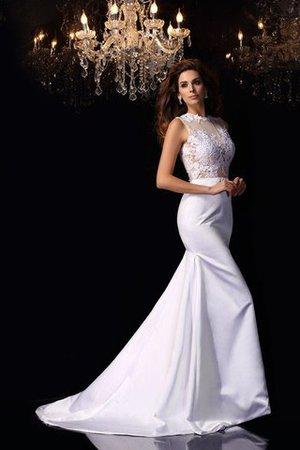 Meerjungfrau Stil Empire Taille Kapelle Schleppe Anständiges Brautkleid mit Applike qWCoCiKcM