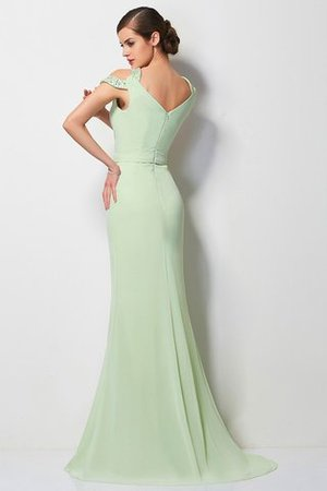 Chiffon Normale Taille Prinzessin V-Ausschnitt Perlenbesetztes Abendkleid U5aMysIj