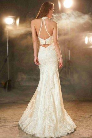 Juwel Ausschnitt Normale Taille Reißverschluss Bodenlanges Abendkleid mit Applike jGP5Nd