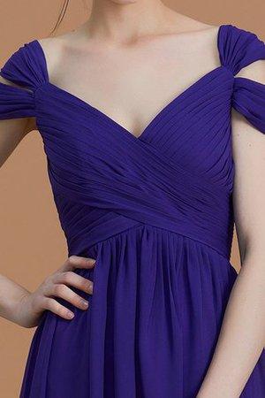 Chiffon a linie Normale Taille Bodenlanges Brautjungfernkleid mit Reißverschluss A3SOLyr