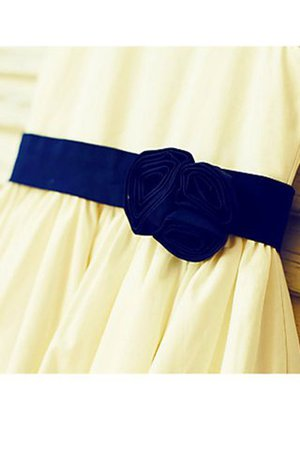 Prinzessin A-Linie Natürliche Taile Satin Blumenmädchenkleid ohne Ärmeln GvddqiTaZ