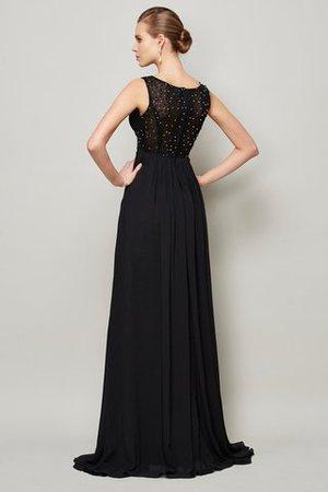 Prinzessin Perlenbesetztes Ärmellos Bodenlanges Abendkleid aus Chiffon YZhLc5by