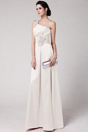 One Schulter Enges Plissiertes Anständiges Brautjungfernkleid mit Blume iGp6Nn