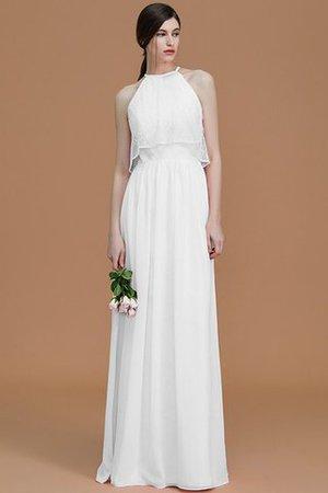 Reißverschluss Chiffon Prinzessin Nackenband Natürliche Taile Brautjungfernkleid YRgJ16gNj
