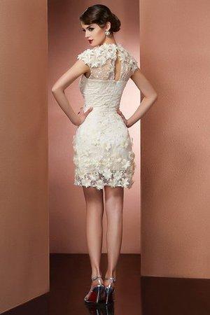 Kurze Ärmeln Enges Mini Abiballkleid mit Bordüre mit Natürlicher Taille MAnHA3j