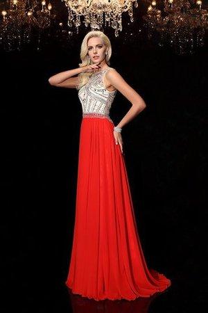 A-Line Prinzessin Perlenbesetztes Anständiges Abendkleid aus Chiffon M6xKqp