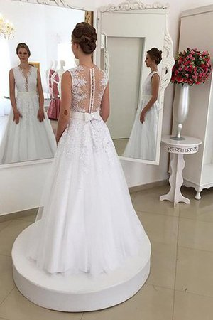 Sweep Zug Ärmelloses Meerjungfrau Stil Schaufel-Ausschnitt Brautkleid mit Bordüre j1zw9j2MQ