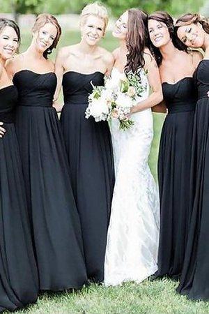 A-Line Ärmelloses Prinzessin Bodenlanges Brautjungfernkleid mit Herz-Ausschnitt h9lktfUag