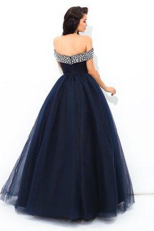 Duchesse-Linie Natürliche Taile Reißverschluss Bodenlanges Partykleid mit Perlen kmBRdLodKF