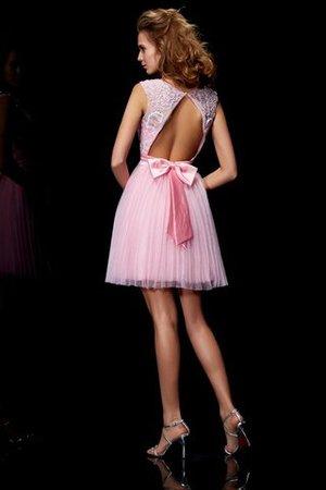 A Linie Prinzessin Mini Abiballkleid ohne Ärmeln aus Elastischer gewebter Satin Tjbz2h