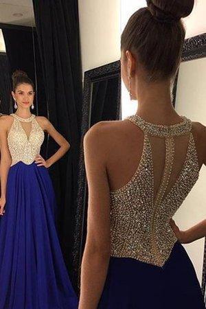 Prinzessin Ärmellos Normale Taille Chiffon Perlenbesetztes Abendkleid KaEntLcSh