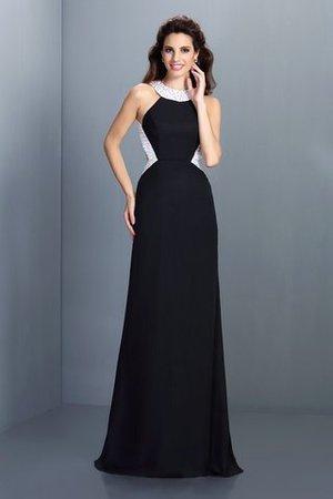 Hoher Kragen Prinzessin A-Linie Normale Taille Perlenbesetztes Ballkleid 4jJBjgu3