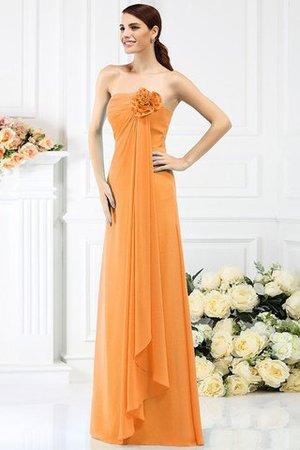 Prinzessin Trägerlos Ärmelloses A-Line Anständiges Brautjungfernkleid uknAefbDY