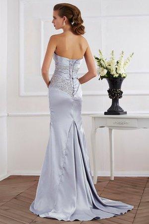 Meerjungfrau Stil Sweep Train Normale Taille Anständiges Abendkleid mit Perlen BO0vD