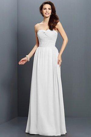 Prinzessin Chiffon Herz-Ausschnitt Reißverschluss Bodenlanges Brautjungfernkleid iYefUQKJs