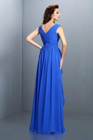 A-Linie Perlenbesetztes Reißverschluss Prinzessin Abendkleid mit V-Ausschnitt vqbJv