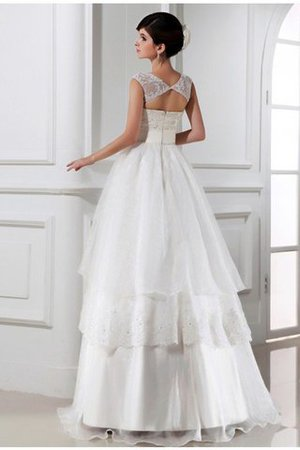 Prinzessin Ärmelloses Organza Brautkleid mit Empire Taille mit Blume rTo6A8N