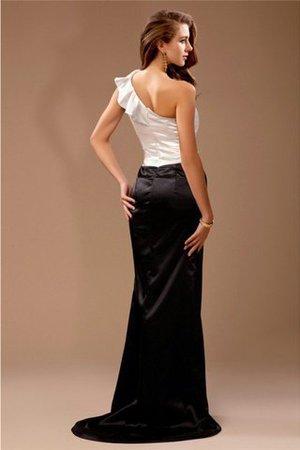 Ein Träger Reißverschluss Satin Ärmelloses Natürliche Taile Brautjungfernkleid 0bnEUuQCq