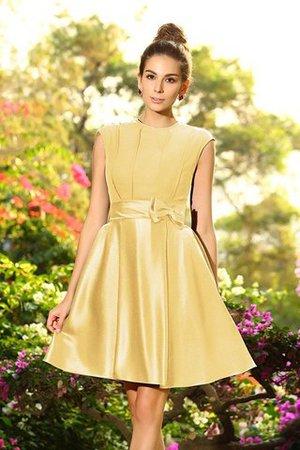 Prinzessin A-Linie Reißverschluss Knielanges Brautjungfernkleid ohne Ärmeln EwowHmcZv