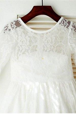 Prinzessin Normale Taille Bodenlanges Blumenmädchenkleid mit Bordüre mit Blume PFHWJr1