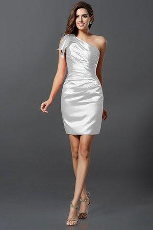 Enges Plissiertes Drapiertes One Schulter Normale Taille Brautjungfernkleid a9GnY