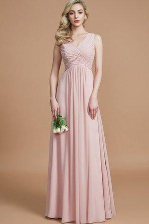 A-Line Prinzessin Chiffon Bodenlanges Brautjungfernkleid mit Reißverschluss OKey9r