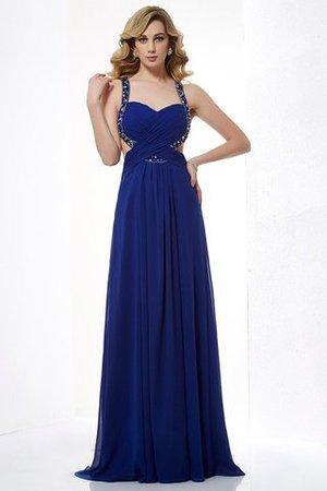 Prinzessin Bodenlanges Anständiges Abendkleid aus Chiffon mit Natürlicher Taille NrX0X