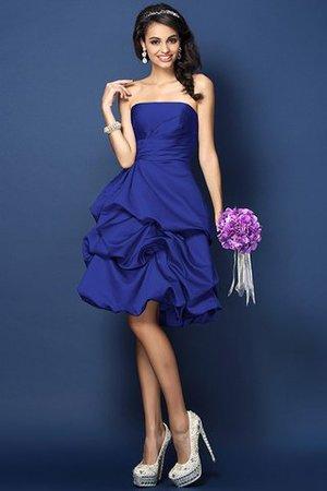 A-Linie Gerüschtes Trägerloser Ausschnitt Prinzessin Mini Brautjungfernkleid w6VAQw3Hu
