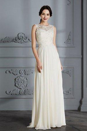 A-Linie Prinzessin Normale Taille Bodenlanges Brautkleid mit Schaufel Ausschnitt wzL466o