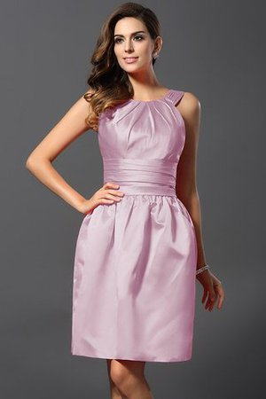 Bateau Ausschnitt Normale Taille A-Linie Prinzessin Mini Brautjungfernkleid J0aYQKMyx5