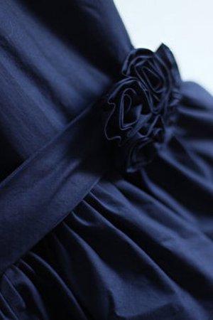 A-Linie Normale Taille Ärmelloses Bodenlanges Blumenmädchenkleid aus Taft izHuZzB